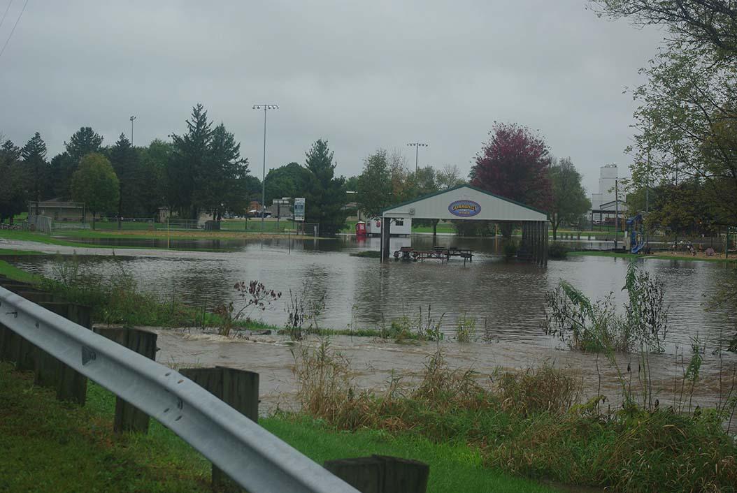 Black Earth, Park St. Bridge over Black Earth Creek, looking towards shelter.