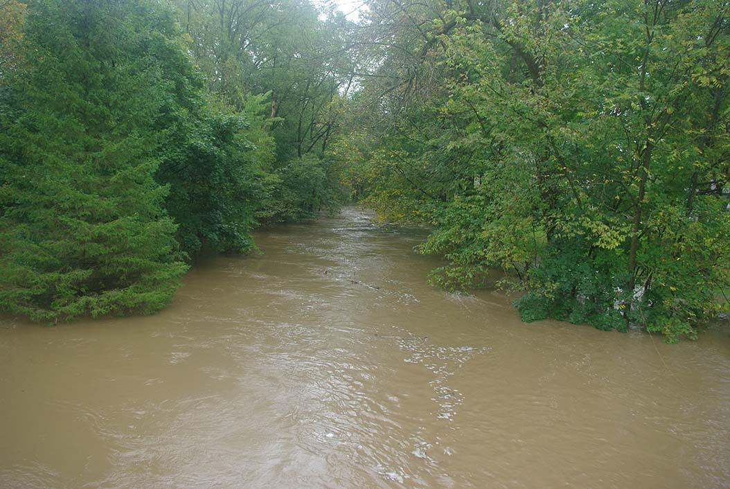 Mazomanie, State St. bridge, looking downstream.