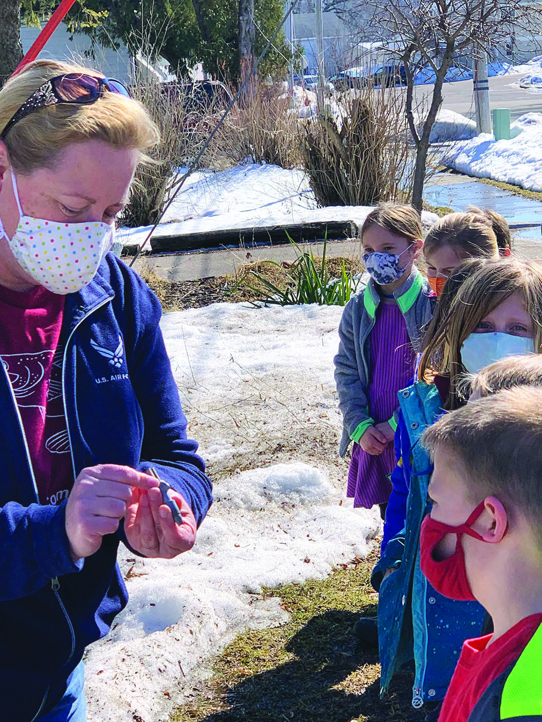 Merrimac students get serious about maple syrup, and Elwood Voelker gets serious about eating it.