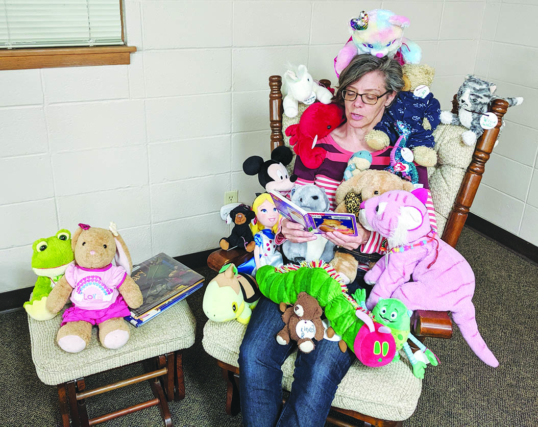 Stuffed animals had a sleepover at the Sauk City Library