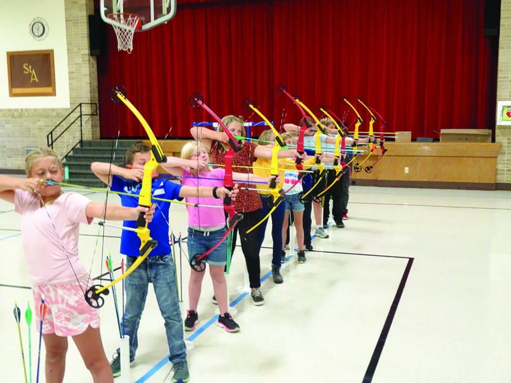 St. Aloysius School in Sauk City is participating in the NASP (National Archery in the Schools Program) this year. The instructor, Nick Ringelstetter...