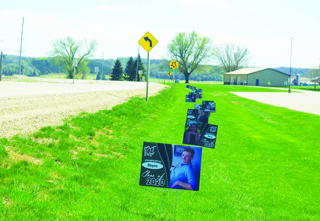 The Wisconsin Heights School District is honoring its seniors with signs place along Highway 14 in front of the school. The Star News'...
