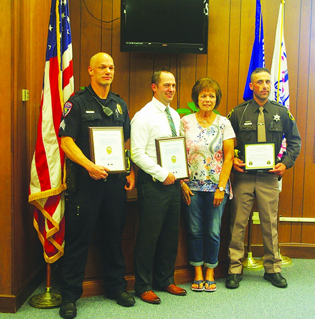 Two members of the Sauk Prairie Police Department along with a member of the Sauk County Sheriff's Department received commendations for their part...