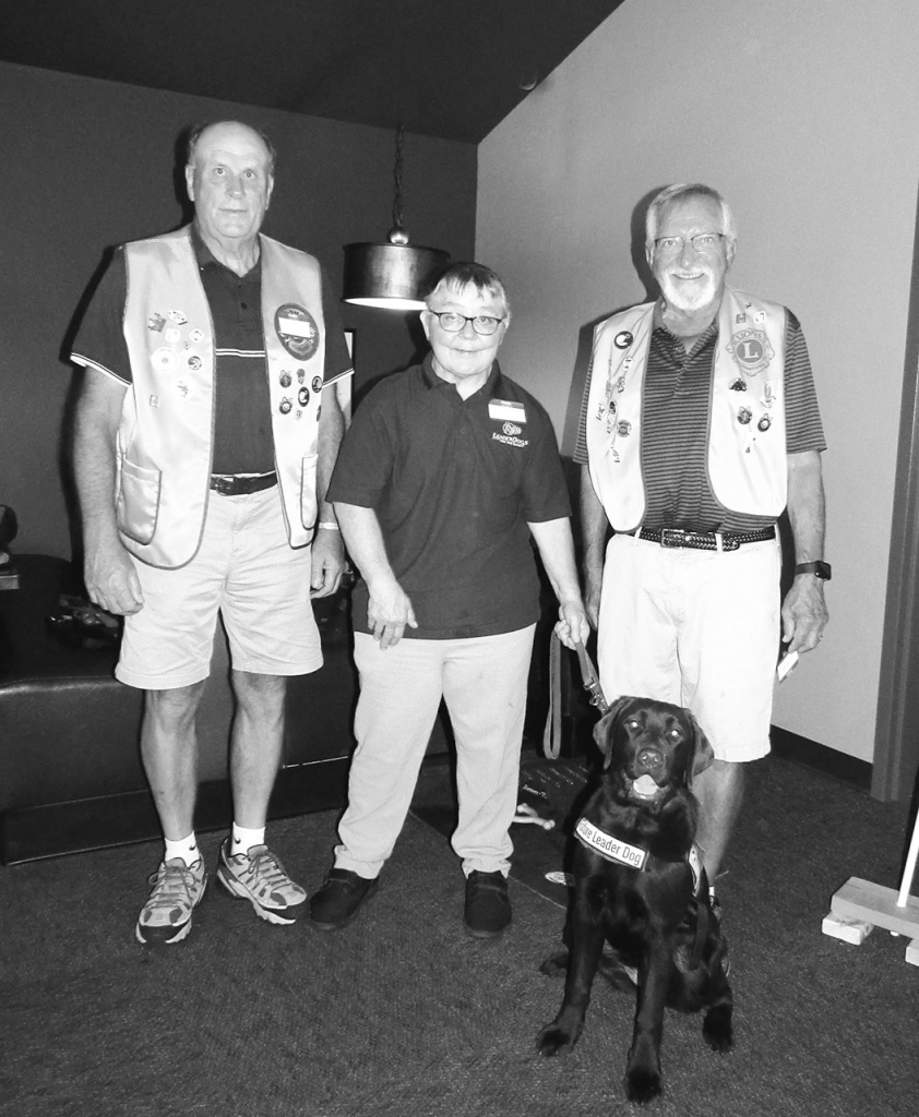 The August 18, 2021 meeting of the Sauk Prairie Lions Club welcomed guest Deb Delie of Green Bay and special guest Snickers to their monthly meeting...