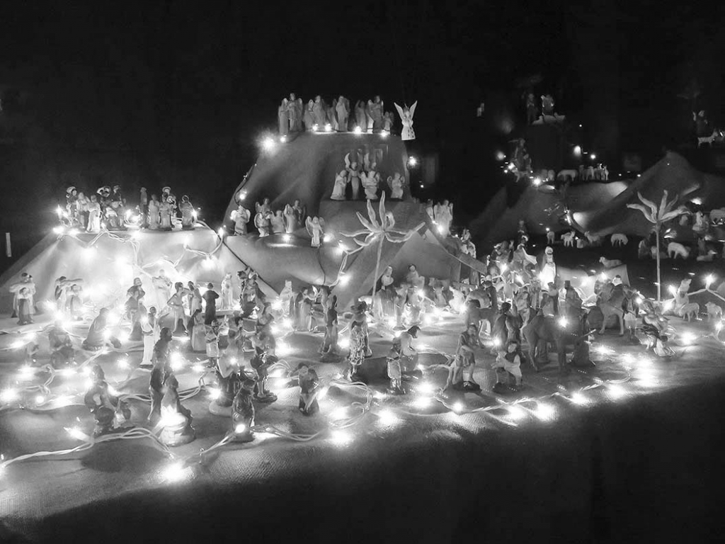 The Black Earth Historical Society is proud to display the Barber Sister's Christmas nativity scene and their winter village at the Black Earth...