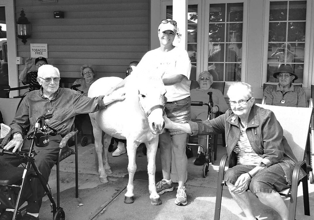 Residents at The Pines Senior Living in Prairie du Sac received a special visit from an adorable 24-year-old pony named Midnight in early September....