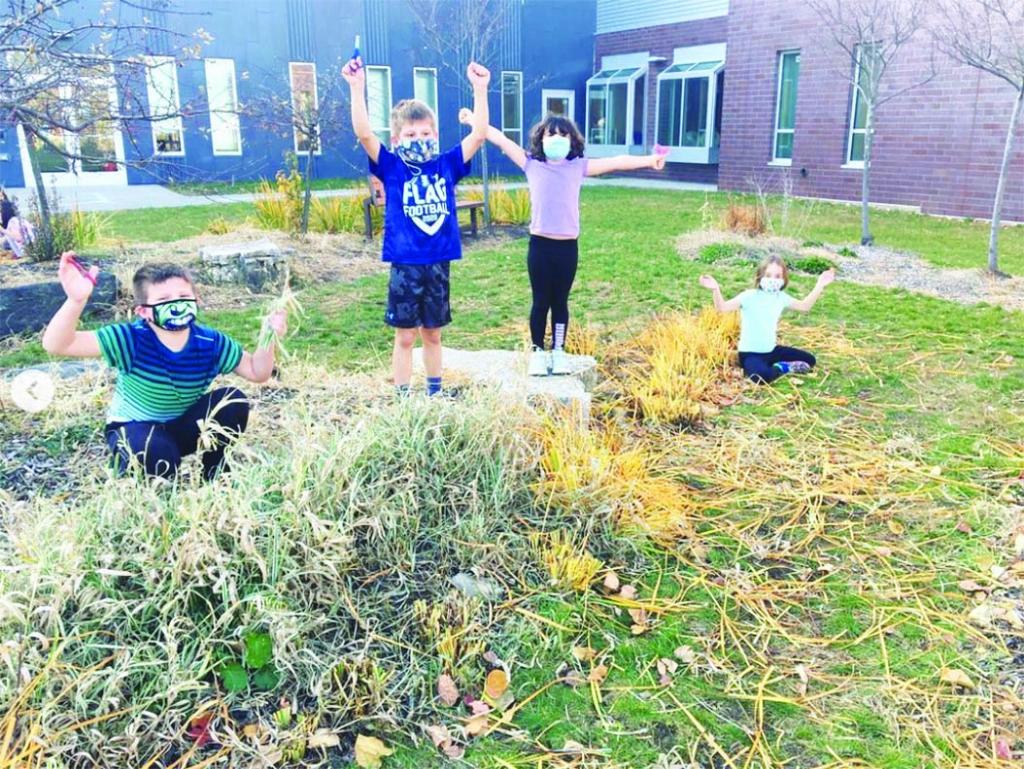 Sauk Prairie School District students got some late season gardening in last week.