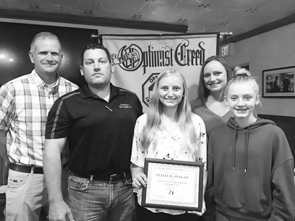 Olivia Flanagan, daughter of Melissa Kropp and Greg Flanagan, was honored at the September 25th Optimist meeting as the September Student of the...
