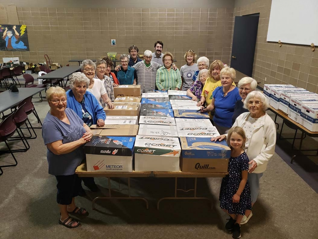 This group from St. John's Lutheran Church in Prairie du Sac just completed their annual backpack project for needy children who cannot afford...