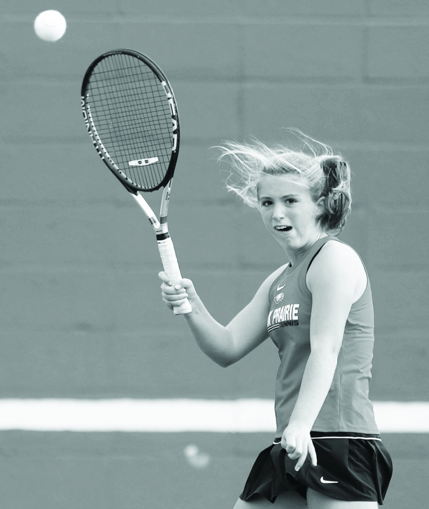 Sauk Prairie's girls tennis team found the going rough at the Waunakee Subsectional Monday.Quinlyn Mack, the Eagles' top singles player...