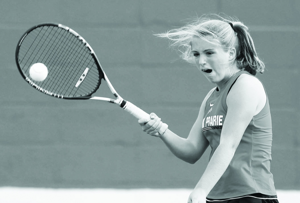 Sauk Prairie's girls tennis team split a pair of dual meets last week.The Eagles rolled past Lodi, 6-1, on Sept. 7. Madison Edgewood...