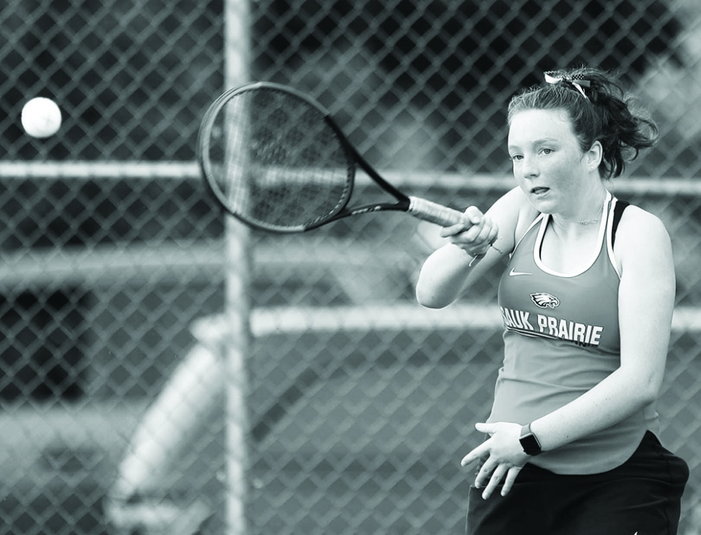 Sauk Prairie's girls tennis team won a pair of matches last week.The Eagles defeated Baraboo, 5-2, on Aug. 31. Sauk Prairie also topped...