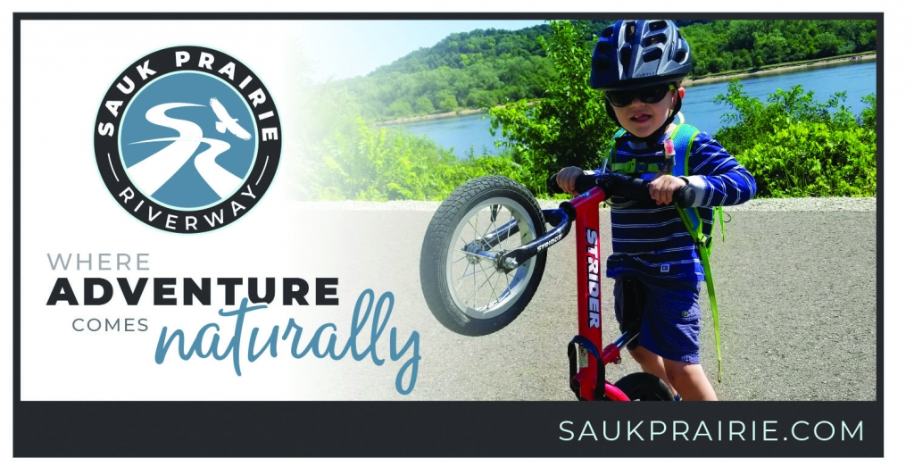 """The Sauk Prairie Chamber of Commerce unveiled a new tagline for the area. It's now """"Where adventure comes naturally.""""A test group..."""