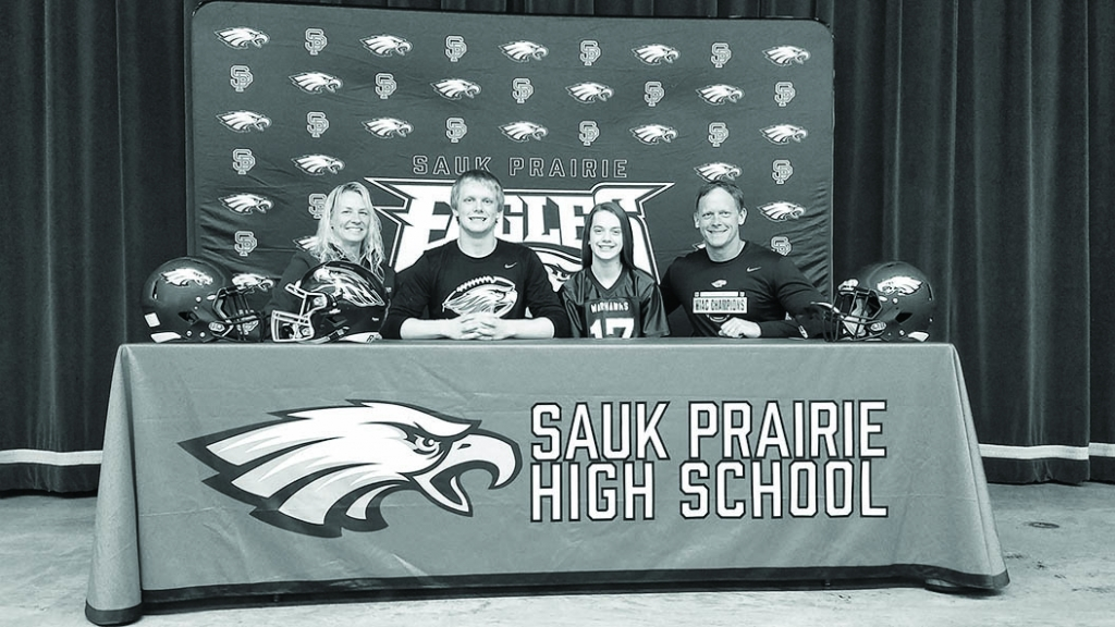 """Sauk Prairie senior Parker Breunig will attend UW-Whitewater this fall to study Business and compete in football for the Warhawks. """"They'..."""